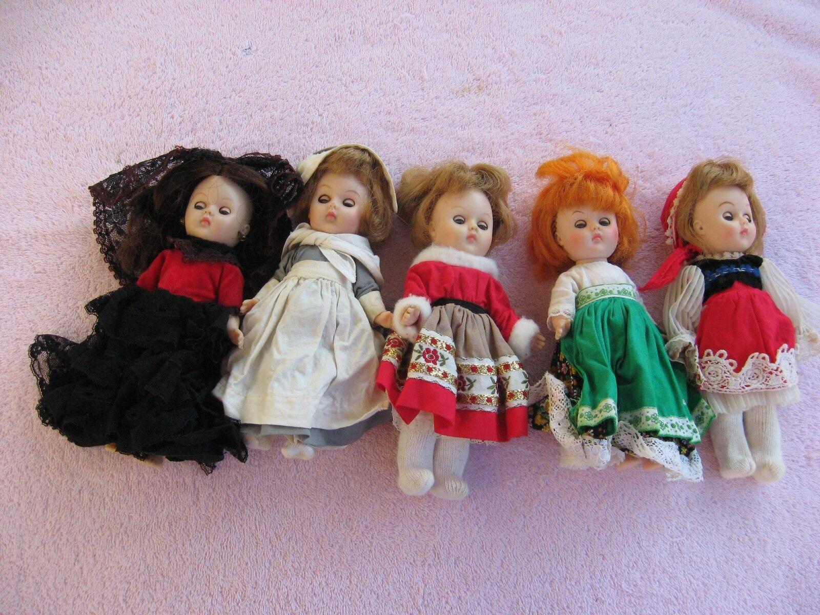 Vintage Ginny Muñecas Lote De 5 caracteres.