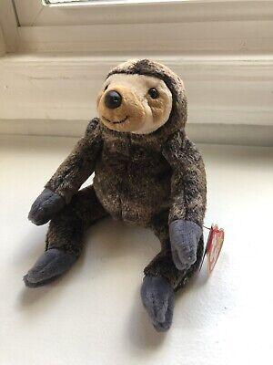 Mint w// Tag 1999 Ty Beanie Babies Slowpoke the Sloth PE Pellets