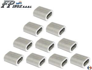 Manchon Aluminium Anodisé Pour Cable 3mm ( Lot De 10 ) Beau Lustre