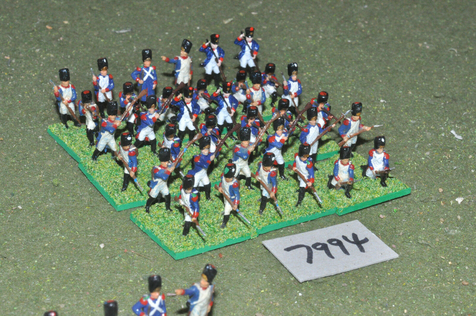20mm napoleonic   french - infantry plastic 36 figs painted - inf (7994)