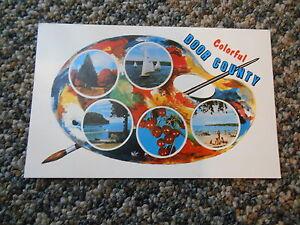 Old Vintage 1963 Postcard Colorful Door County Wisconsin Painter Hagedorn Studio