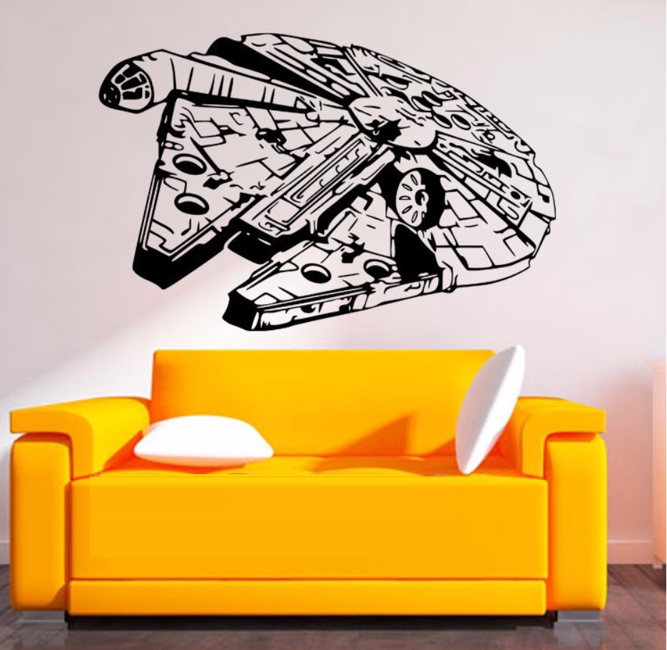 Removable MILLENIUM FALCON Star Wars Wall Stickers Art Vinyl Decal ...