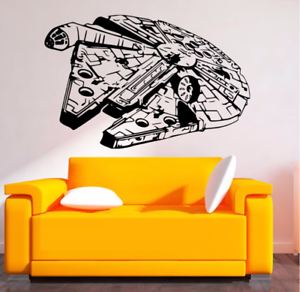 Image Is Loading Removable MILLENIUM FALCON Star Wars Wall Stickers Art