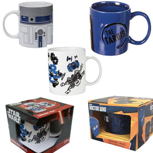 Doctor Who Tardis 2D Relief Shaped Ceramic Mug and star wars mug
