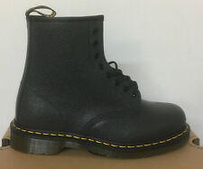 DR. MARTENS 1460  BLACK NOIR SCOTCHGRAIN  LEATHER  BOOTS SIZE UK 12