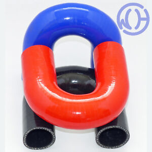 180 degree Silicone Hose Elbows Coolant Water Boost Inlet Reinforced Pipes