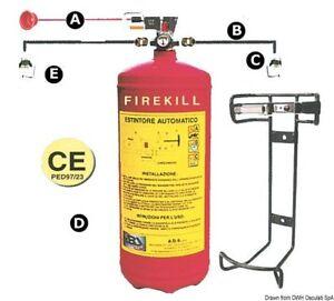 Estintore Firekill con pressostato 3 kg Marca Osculati 31.519.13 - Italia - Estintore Firekill con pressostato 3 kg Marca Osculati 31.519.13 - Italia