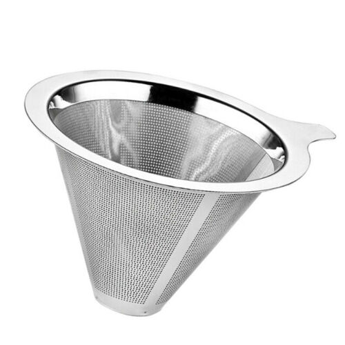1 Edelstahl Netz Gießen über Kegel Kaffee Tropfer Filter Tee Sieb Trichter