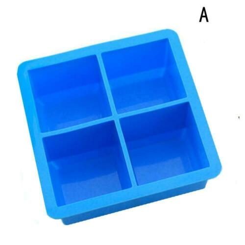 Big Giant King Size Large Silicone Kitchen DIY Ice Cube Square Tray Mold Super 2