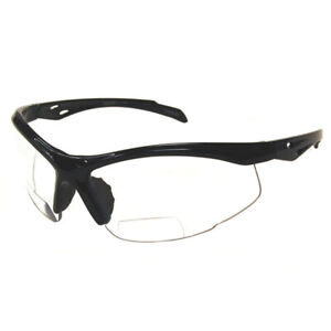 Bifocal Reader Performance Protective Safety Glasses Clear Lens +2.00 Magnifiers