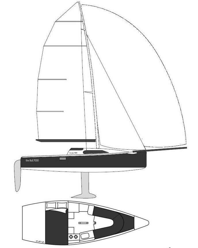 Bull 7000, årg. 2002, skrogmateriale glasfiber