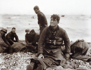 7x5-Lucido-Foto-ww866-Normandia-D-Day-Omaha-Spiaggia-Naufrages-Rescapes