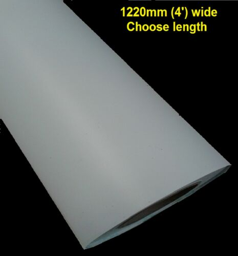4ft WIDE GLOSS WHITE SELF ADHESIVE STICKY BACK PLASTIC  SIGN VINYL 1220mm