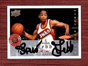 Spud webb autographed card.