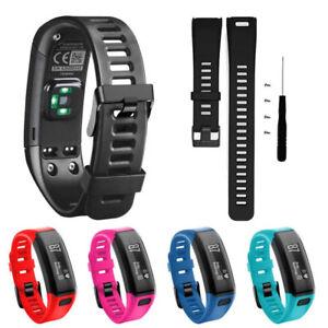 Cinturino-silicone-regolabile-fibbia-per-Garmin-Vivosmart-HR-Vivo-Smart-con-viti