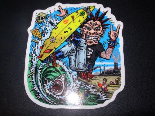 """JIMBO PHILLIPS Skate 4.25/"""" Sticker SURF PUNK skating skateboard helmets decal"""
