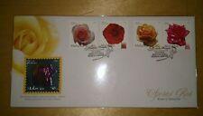 Royal Selangor Niobium Pewter Stamp FDC - 2003 Valentine Gift Malaysia Roses Ros