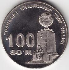 UZBEKISTAN: 100 SOM 2009 UNCIRC. TASHKENT COMMEM.  #2