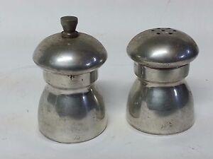 Vintage Kent Silversmiths Pewter Salt Shaker And Pepper