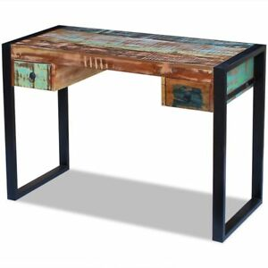 Image Is Loading Solid Reclaimed Wood Office Desk Table Handmade 2