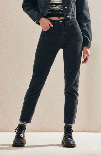 3 of 6 NWT - PACSUN Women s VINTAGE ICON MOM CORDUROY Washed Black JEANS  PANTS- 32 24d920cce