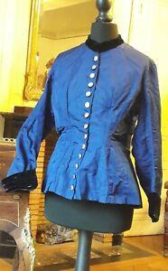 Mon ChéRi Superbe Chemisier En Coton Et Velours - Haute Couture - 1850 - 1880