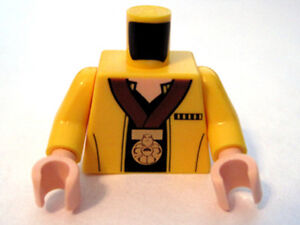 Lego New Minifig Torso Female Tuxedo Jacket Large Gold Bow Black Lapels Pockets