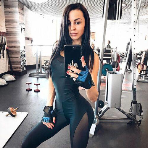 Les femmes Backless Mesh Gym Entraînement Sport Set