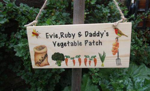 signo de encargo libre P/&p Hecho a mano personalizado de jardín adjudicación Placa.