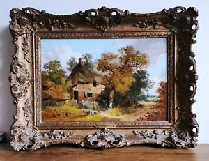John-Berney-Ladbrooke-Norwich-School-Norfolk-Cottage-19thC-Antique-Oil-Painting