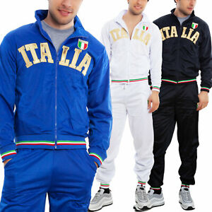 Tuta-uomo-sportiva-ITALIA-completo-giacca-pantaloni-jogging-sport-TOOCOOL-BS-81
