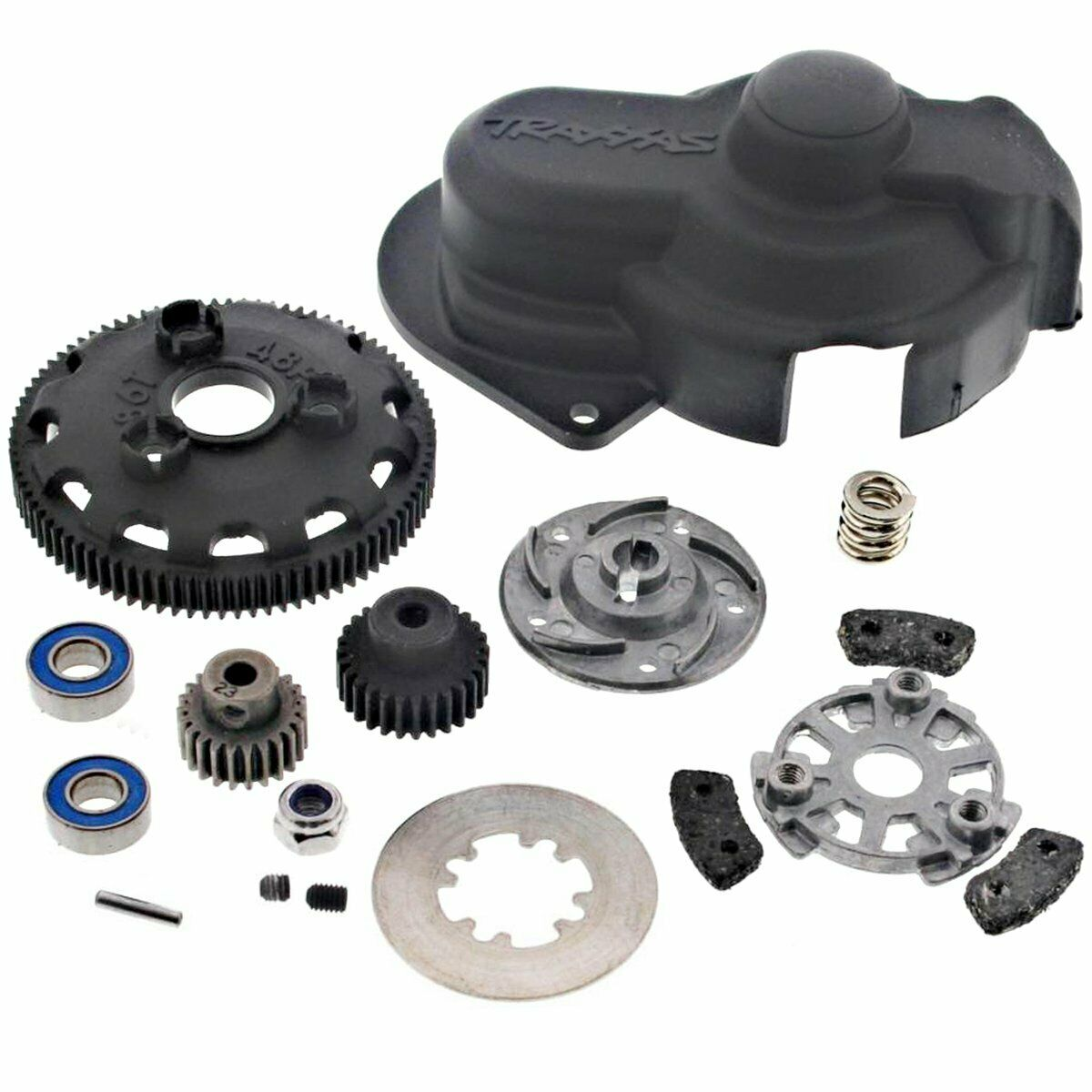 Traxxas 1 10 Slash 2WD VXL 86T SPUR SPUR SPUR GEAR, SLIPPER CLUTCH, TWO PINIONS & COVER 4804c6