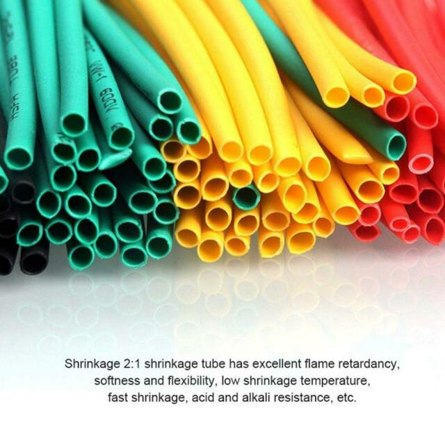 328pcs Cable Heat Shrink Tubing Sleeve Wire Wrap Tube 2:1 Assortment Kit Su G4Z5