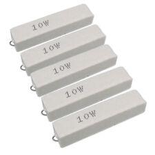 Us Stock 5pcs 10k Ohm 10kj 10 Watt Axial Ceramic Cement Power Resistor 10w