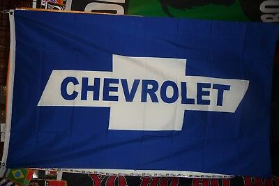 "Chevrolet Flag 3/' X 5/' Blue Bow-tie Premium Automobile Banner /""USA Seller/"""