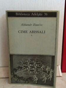 Cime-abissali-Aleksandr-Zinov-039-ev-vol-I-prima-edizione-biblioteca-Adelphi-1977