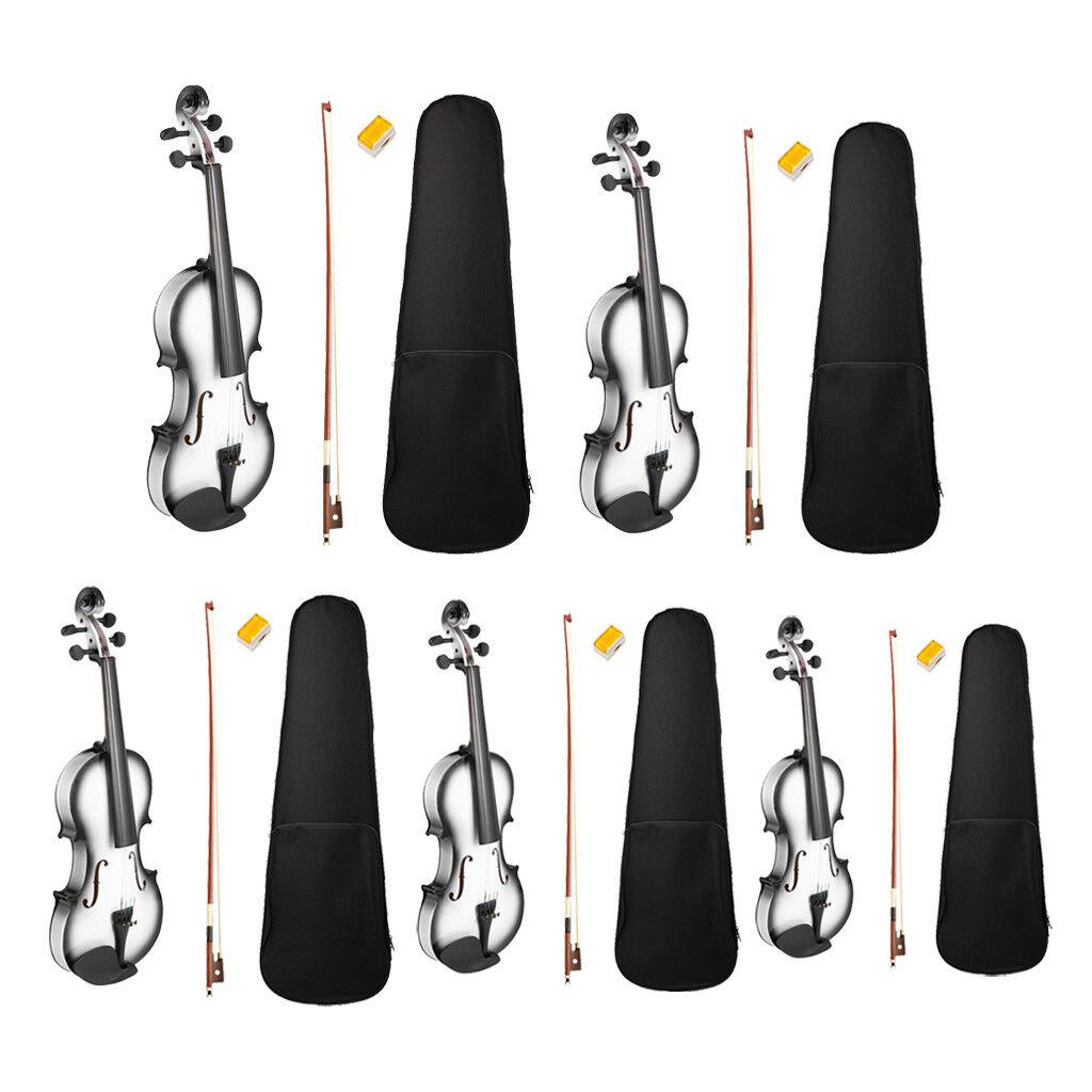 4 4 3 4 1 2 1 4 4 4 1 8 Acústico Violín Violín con estuche y arco Rosin Conjunto de Regalo  de moda