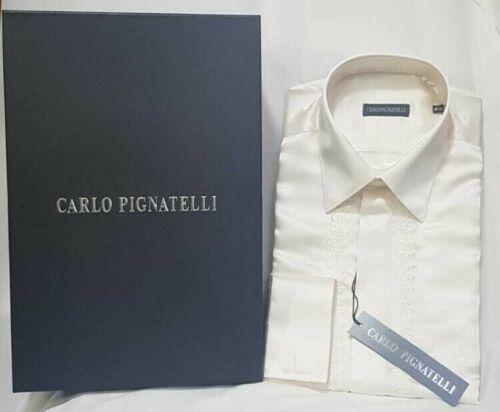 Camicia Uomo Carlo Pignatelli Diplomatica disegnata Panna Hemd рубашка chemise