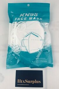 🌟(5pc / 10pcs) KN95 Protective Face Mask Respirator, Sealed Packs of 5