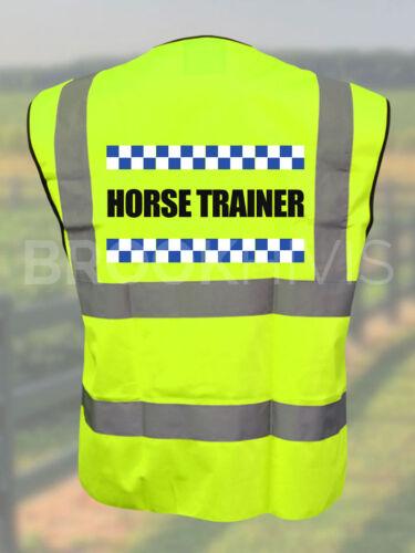 Sillitoe Horse Trainer Hi Vis Vest Reflective High Visibility Ri