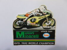 VECCHIO ADESIVO ORIGINALE / Old Sticker MOTO MINARELLI 1979-1980 (cm 9 x 9)