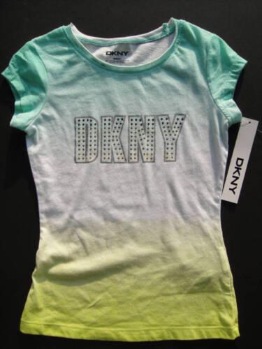 DKNY NWT Girls Tee Top Shirt Logo Bling 2 2T 4 4T Green Lime Yellow