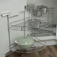 Kitchen Unit Eko Easy Corner Baskets Carousel 800 Or 900+1000mm Chrome 4 Shelfs