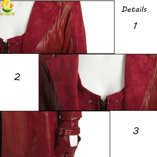 Captain America3 Cosplay Wanda Maximoff Scarlet Witch costume Scarlet Witch coat