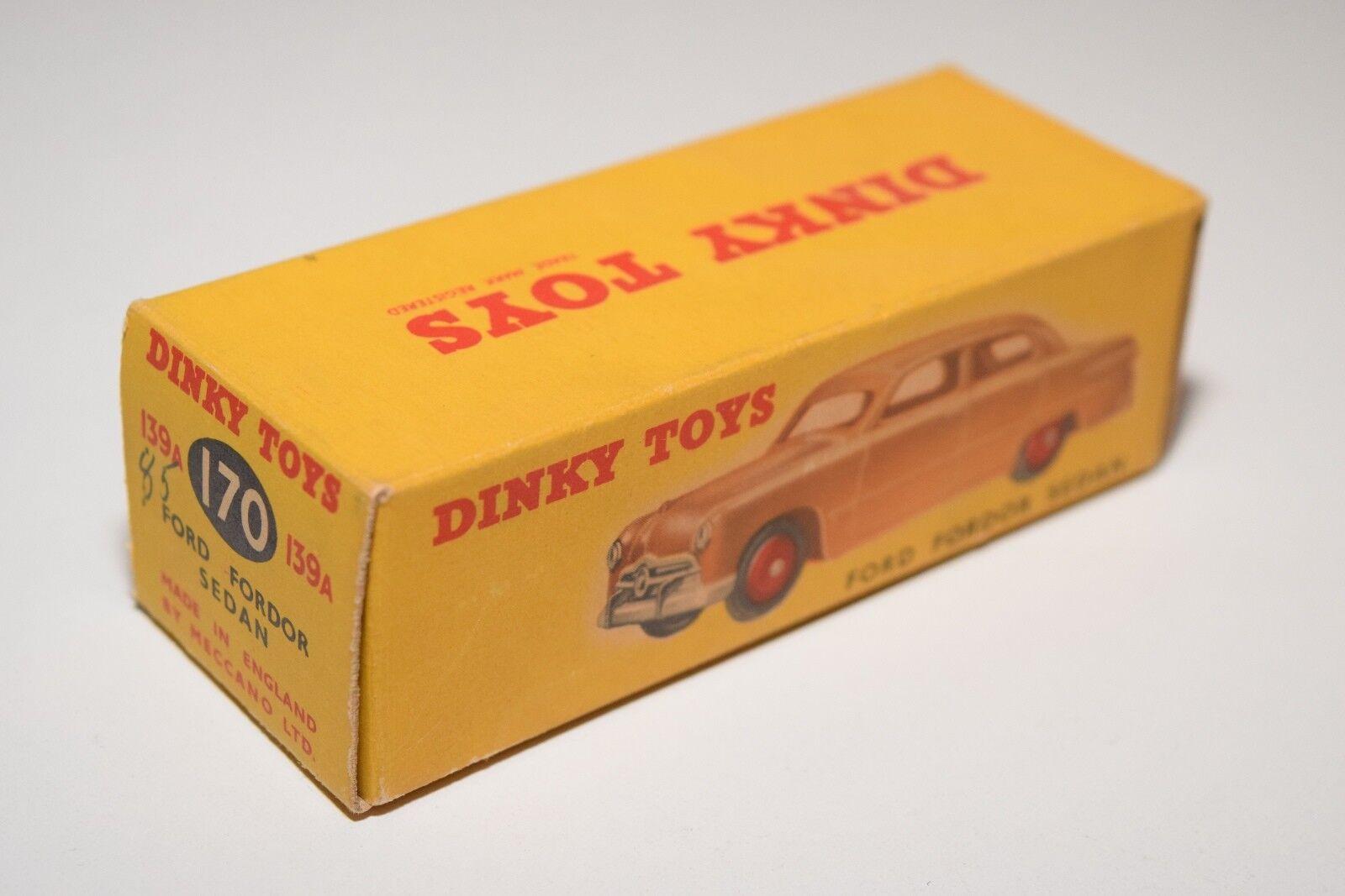 DINKY TOYS 139A 170 FORD FORDOR SEDAN ORIGINAL EMPTY BOX NEAR MINT CONDITION