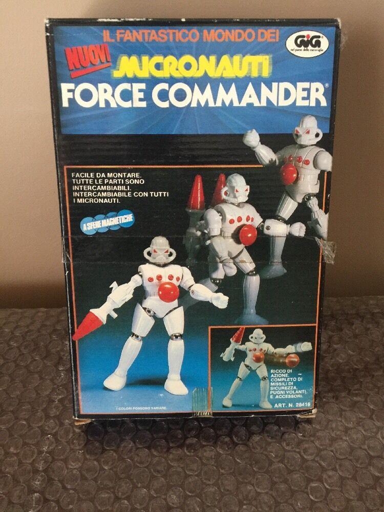 VINTAGE NUOVI GIG Micronauts Micronauti FORCE COMMANDER IN Sealed Box