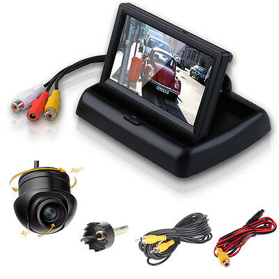 360° Car Front Side Rear View Reverse Camera With Car Monitor Night Packing Kit