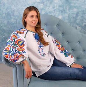 fb5d9bf0ac9107 Image is loading Ukrainian-Embroidery-Blouse-for-women-Boho-Sorochka- Vyshyvanka-