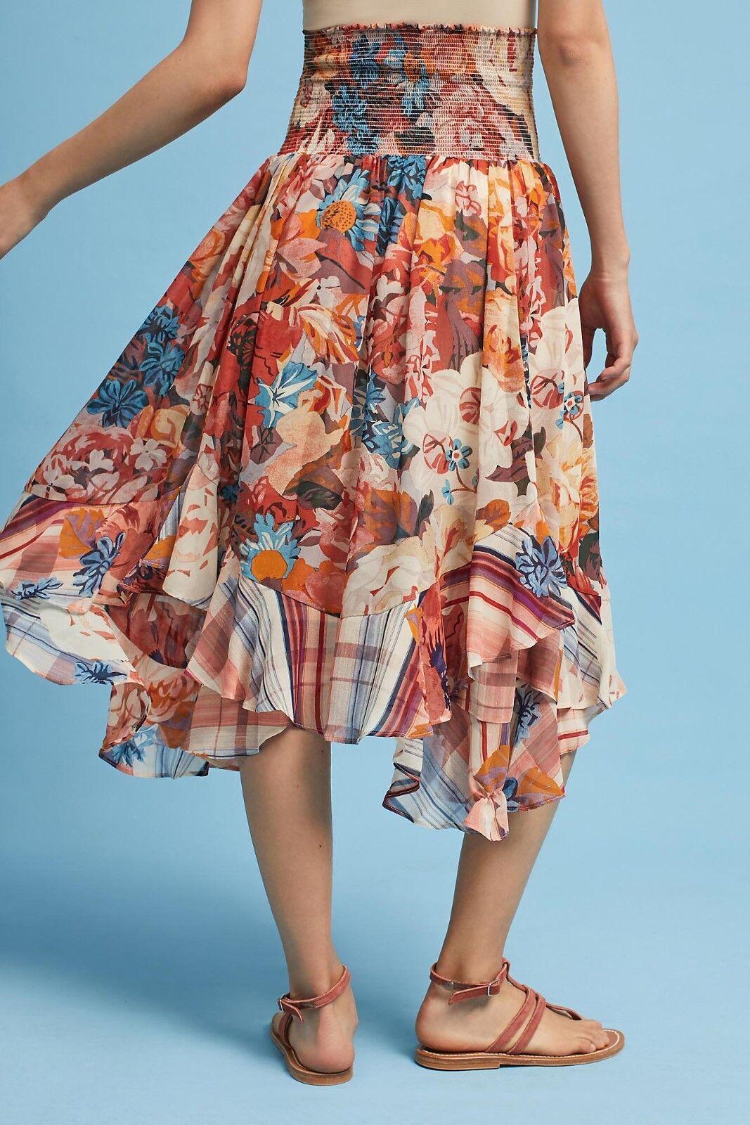 ANTHROPOLOGIE Akemi + Kin Theola Floral Maxi Skirt NwT XS S