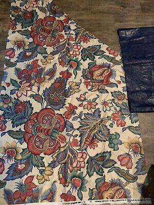 "Waverly Jacobean Print Fabric Napkins 19x19/"" Set of 4 Gray Gold Beautiful"